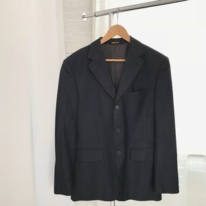 Versace Men's Striped Blazer Suit Jacket